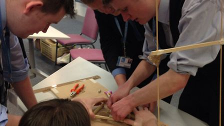 Students from The Da Vinci Studio School of Science and Engineering get to grips with the challenge