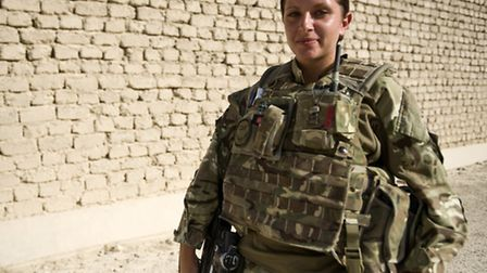 Private Abbie Martin (20) is from Haverhill in Suffolk. Her combat medical skills give the troops on