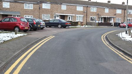 The double yellow lines were put in place in October last year following consultation with residents
