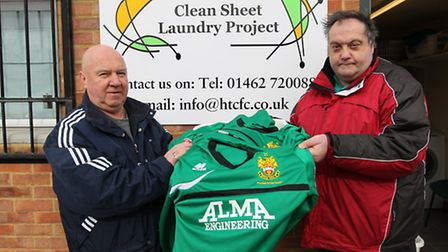 Mike Bristow and Kevin Huxtable, who work part-time for the clean sheet laundry project at the Baldo