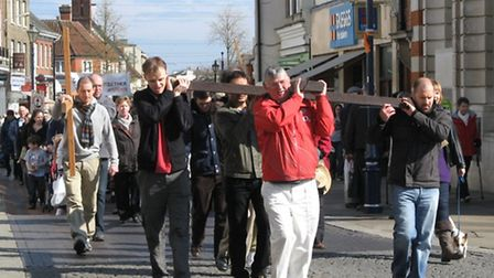 Last year's walk of witness in Hitchin
