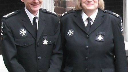 Stevenage residents John Beach and Sarah Betts have been honoured in recognition of their work for S