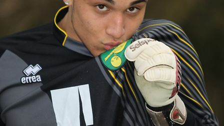 Tyler Reading 15, year old goalkeeper has been signed up by Norwich City FC