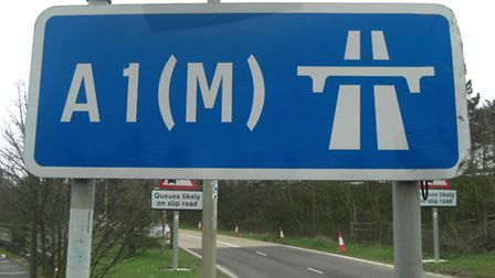 A woman and a boy were taken to hospitali after the car they were travelling in overturned on the A1