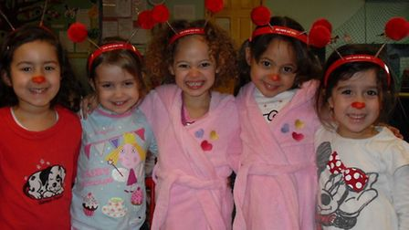 Children at Millenium First Steps in Hitchin nursery dress in their pyjamas for Comic Relief