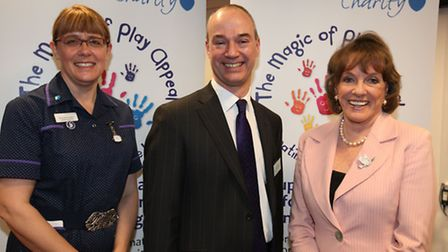 Esther Rantzen (right) pictured with director of nursing Angela Thompson and East and North Herts NH