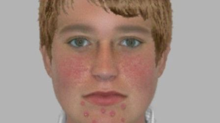 An e-fit of a man police want to speak to in connection to an allegation of indecent expsoure in Saf