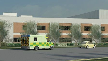 An artist's impression of the 62-bed ward block at Lister Hospital