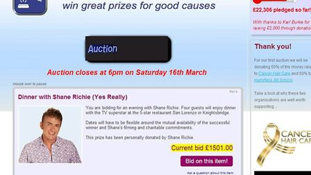 The auction at www.communitybidder.co.uk closes tomorrow at 6pm