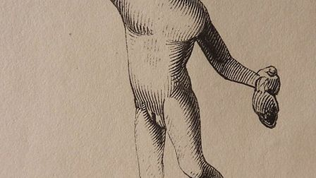A bronze figure of Mercury found at Great Chesterford by Richard Cornwallis Neville in the 19th cent