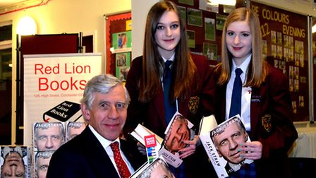 Jack Straw is joined by Zoe Franklin (left) and Rebecca Hills, both Year 10.
