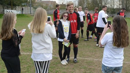 TV presenter Jeff Brazier was greeted by autograph hunters on Sunday.
