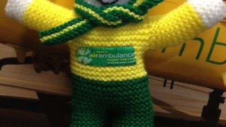 The Essex Air Ambulance mascot will be sent to the stratosphere using helium balloons