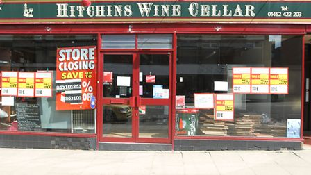 Hitchins Wine Cellar, in Hermitage Road, Hitchin, has surrendered its licence