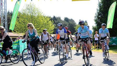 Cyclists setting off at last year's event
