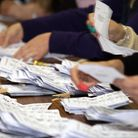 Voting slips are counted