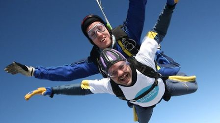 Kevin Law did the jump to raise money for a mental health charity.