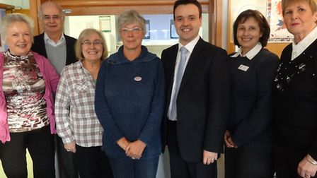 Left to right: Als Caf committee members Anne Munroe, Alan Bruce, Norma Warden and Isobel Dunkley wi