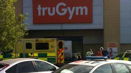 Police and ambulance crews were called to truGym in Roaring Meg, Stevenage