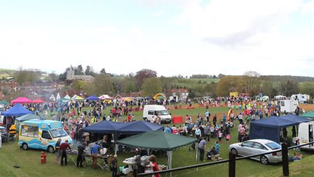 The recreation ground during the Kimpton May festival