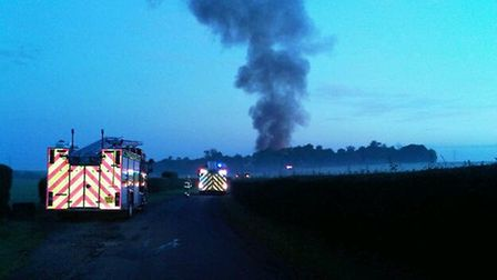 Approaching Chilford on the night of the fire