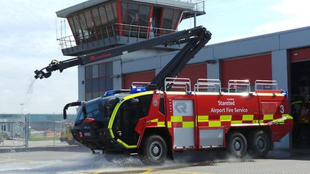 A Rosenbauer Panther outside Stansted Airport's Fire Station
