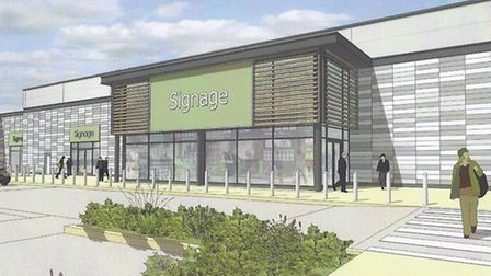 Approval was granted for a discount foodstore, garden centre, cafe and warehouses on the outskirts o