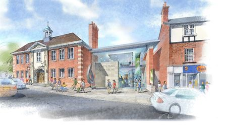 What it is envisaged the hall and museum will look like