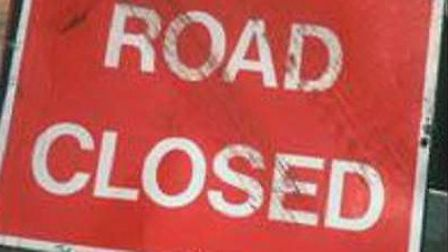 A section of North Road in Stevenage was shut