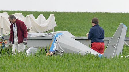 The Air Accident Investigation Branch on the scene. Photo by Alan Millard.