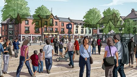 The latest drawing, released exclusively to the Comet, shows a refurbished Churchgate centre