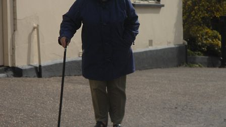 Joan Lloyd slipped on the pavement while walking to her friend's house for Easter lunch.