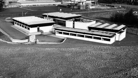 An aerial view of FIRA's headquarters in 1968
