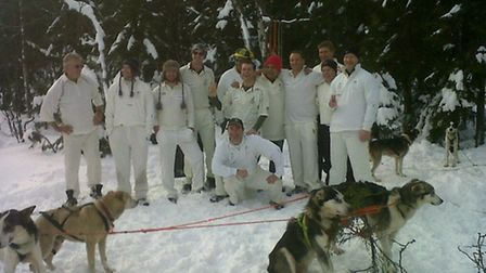 Captain Scott's XI cricket team played in -10C in Oslo last January