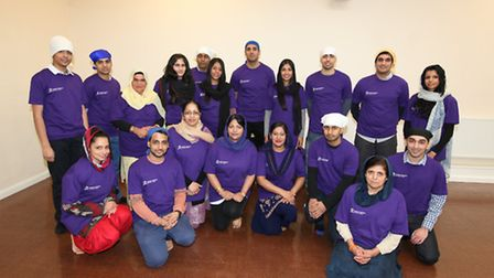 Friends and family of Jaskomal at Vaisakhi, where the campaign was launched