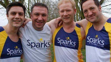 Saffron Walden Round Table members James, Jason, Dean and Ian are in training for the marathon