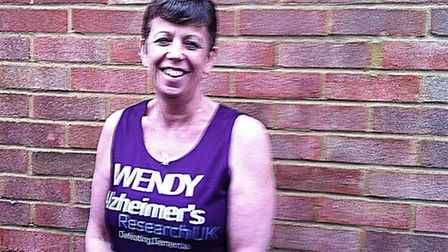 Wendy Ward, from Hitchin, is raising money for Alzheimer's UK
