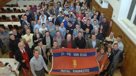 Soldiers returning from Afghanistan celebrated in Saffron Walden Town Hall on Monday (April 15).