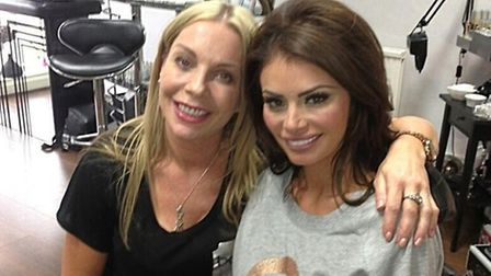 Chloe Sims (right) with Kerie Hoy