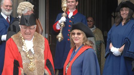 The new mayor and mayoress of Saffron Walden, Keith and Sandra Eden.