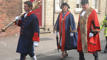 The Mayor Making ceremony in Saffron Walden today (Saturday May 11).