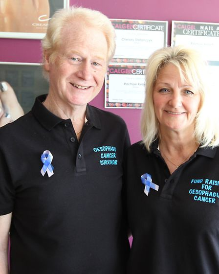 Chris and Cheryl Childs at the coffee morning