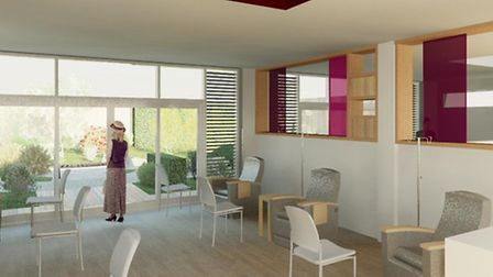 An artist's impression of the treatment area
