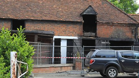 Firefighters were called to a blaze at The White Lion pub in Stevenage High Street
