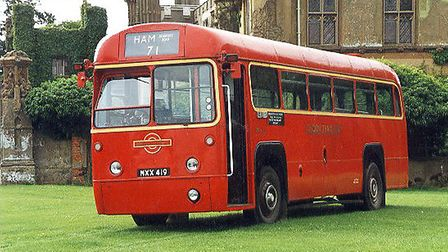 One of the buses at the display