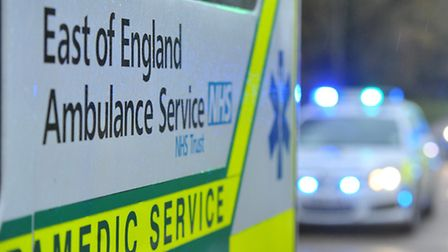 A nine-year-old girl is being treated at the scene