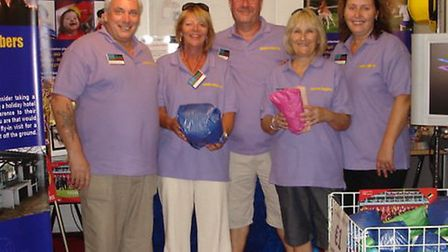 24x7 Special Needs Holiday Trust fund-raising team at a previous event.