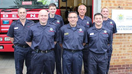 The team at Linton fire station