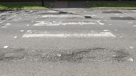 The crossing in Marymead is in bad condition