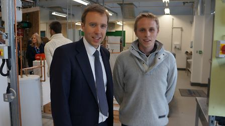 Plumbing apprentice Martyn Lee was one of a small group of students chosen to meet Skills Minister M